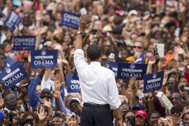 Michigan, Minessota, Colorado e Wisconsin deram ao democrata Barack Obama uma pequena vantagem sobre o opositor McCain   Chris Keane / Reuters