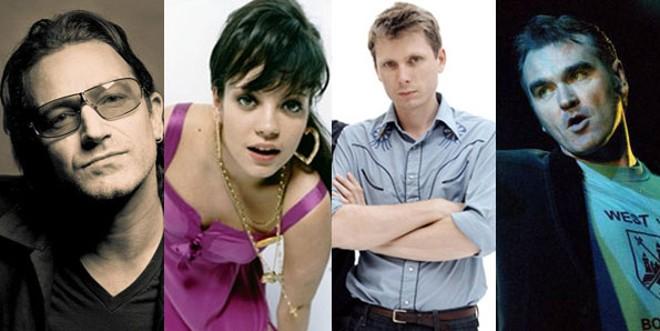 Álbuns novos de U2, Lily Allen, Franz Ferdinand e Morrissey são algumas das atrações de 2009 | Divulgação