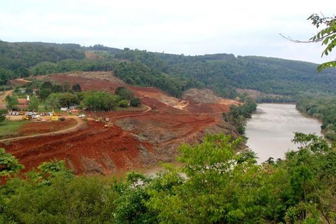 Canteiro de obras da Usina de Mauá: principal investimento da Copel está atrasado por causa de disputa jurídica com ambientalistas | Marcelo Frazão