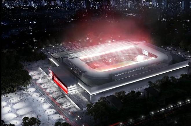 E esta é a provável Arena da Baixada em 2014 | Reprodução / Projeto Atlético