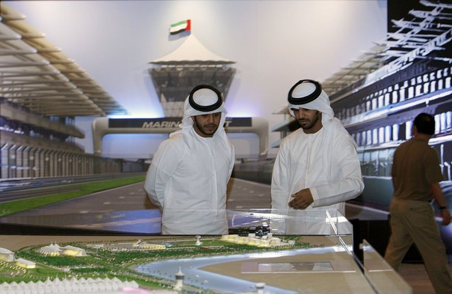 Maquete da nova pista de Abu Dhabi: joia no meio do deserto recebe a prova de encerramento da temporada | Ahmed Jammalah/Reuters