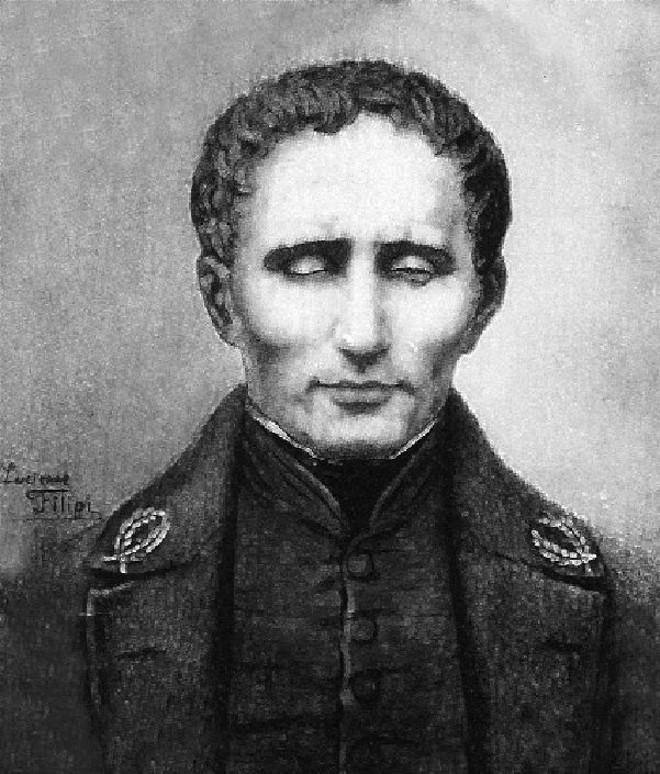 Braille aprefeiçoou o código usado pelos cegos aos 15 anos. Morreu aos 43 e tornou-se famoso por sua criação 30 anos depois. | Divulgação