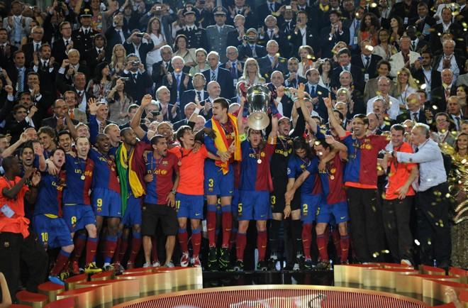 Conquista do Barça é a terceira em sua história dentro da Liga dos Campeões da Europa | Carl de Souza / AFP