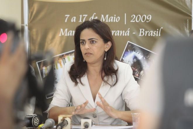 A presidente da Sociedade Rural concedeu entrevista coletiva divulgando os números da Expoingá deste ano   Assessoria de Imprensa/Expoingá
