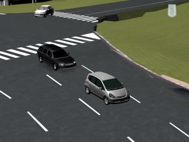 Imagem da reconstituição virtual momentos antes do acidente causado pelo então deputado Carli Filho | Reprodução