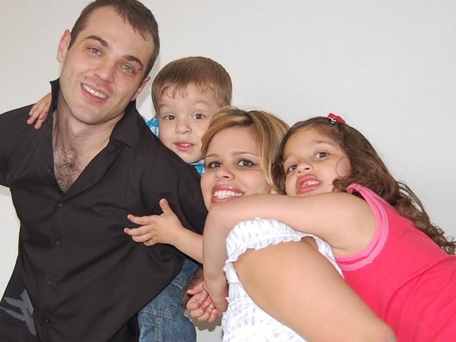 Rafael Cervi, Felipe, Dayana e Thaís | Arquivo de família