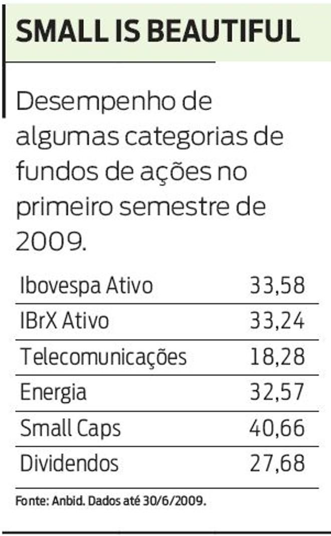 Confira o desempenho de algumas categorias de fundos de ações |