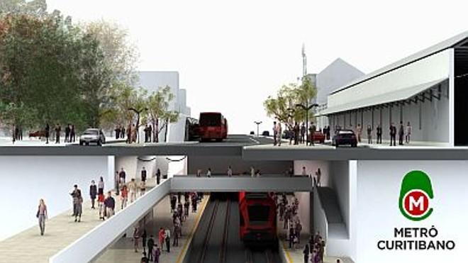 Projeto de como será o Metrô Curitibano |