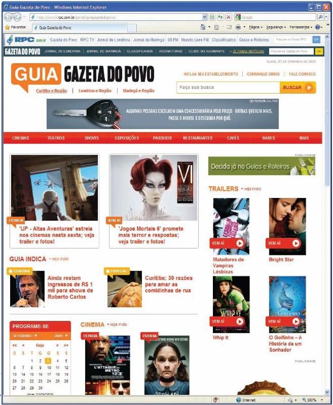 O novo Guia: filmes e estabelecimentos podem ser indicados pelo internauta | Reprodução