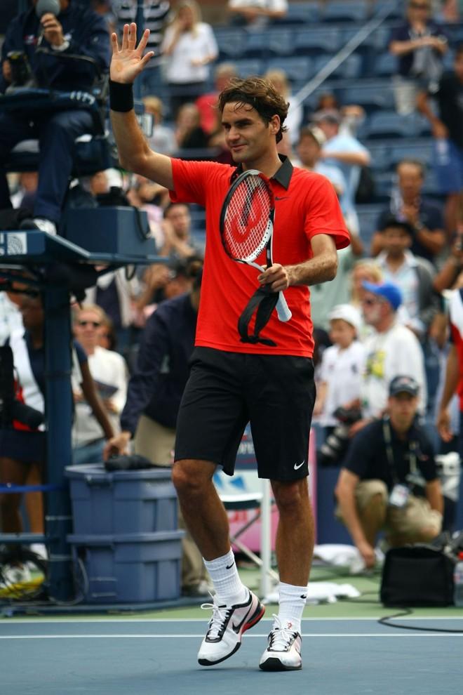 Após bater o espanhol Tommy Robredo, Federer encara Robin Soderling   Julian Finney/AFP