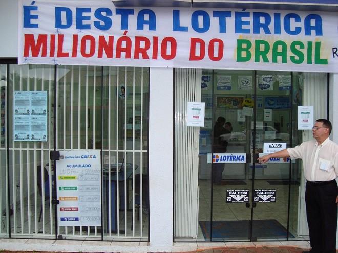 Fachada da lotérica de Terra Roxa: primeiro vencedor da história da cidade | Osmar Nunes/Gazeta do Povo