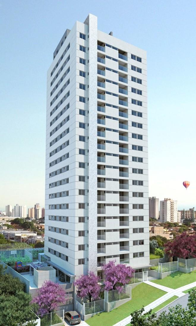 Prédio Flexcity Champagnat: dos 72 apartamentos, 20 ainda estão à venda | Divulgação