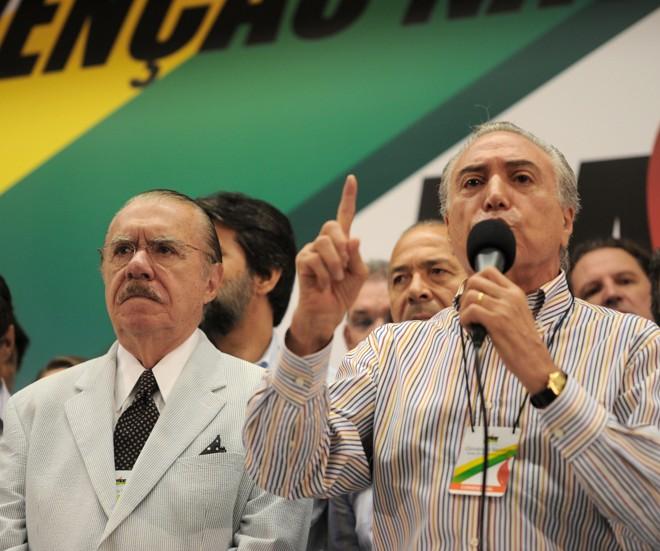 Convenção do PMDB definiu a reeleição de Michel Temer para a presidência do partido | Antônio Cruz / Agência Brasil
