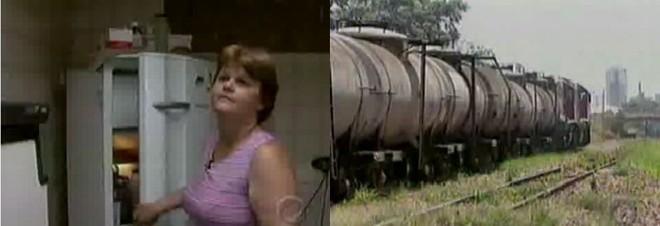 Dona Terezinha mostrou os estragos em sua casa | Reprodução TV Cultura