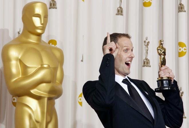Pete Docter comemora o Oscar de melhor animação por