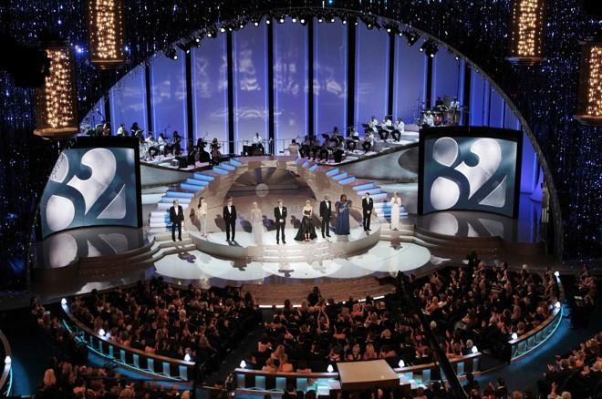 Palco do Kodak Theater, em Hollywood, local da 82º cerimônia do Oscar |