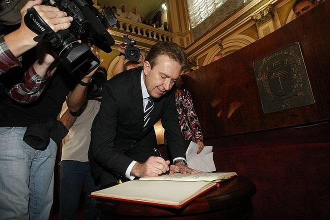 Luciano Ducci: no comando da prefeitura de Curitiba até 2012, com promessa de continuidade | Marcelo Elias/ Gazeta do Povo