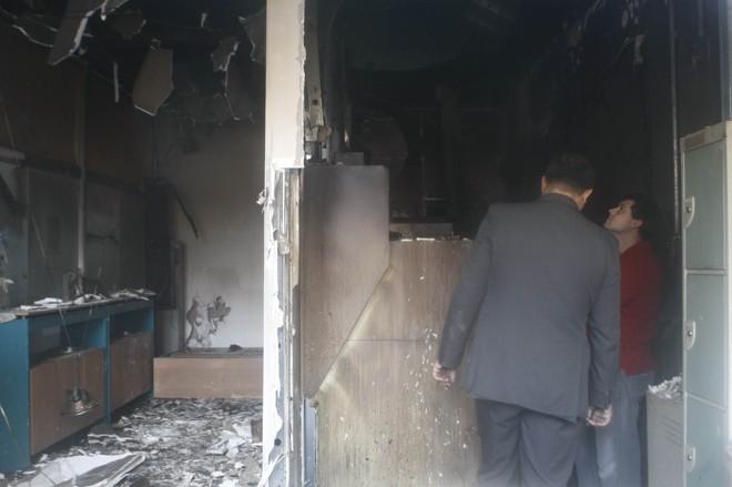 Ladrões causaram incêndio em banco no bairro Rebouças durante a fuga | Jonathan Campos / Agência de Notícias Gazeta do Povo