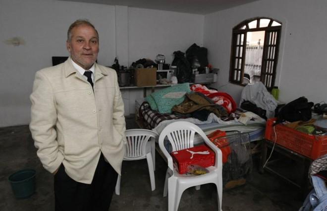 João Otávio Simões Neto, dono do ex-São José, no alojamento-motel do clube | Daniel Castellano / Gazeta do Povo