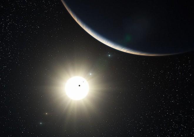 Ilustração de pesquisadores europeus mostra sistema planetário em torno de uma estrela semelhante ao Sol: cientistas procuram planetas similares à Terra | Nasa/Missão Kleper
