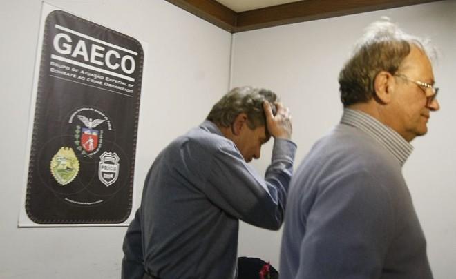 Nassif e Bibinho: ex-diretores foram presos novamente na quinta-feira | Jonathan Campos / Gazeta do Povo