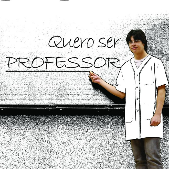 Assim como Gustavo, muitos vestibas sonham em seguir  a carreira de professor   Dino Pezzole