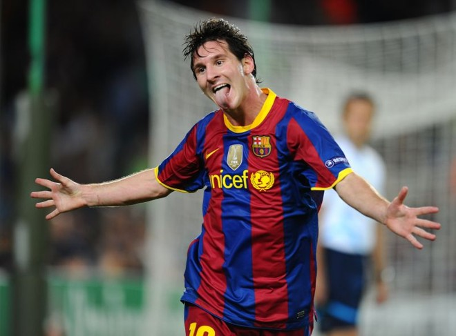 Messi: o argentino é a barbada da Bola de Ouro.   Lluis Gene/ AFP