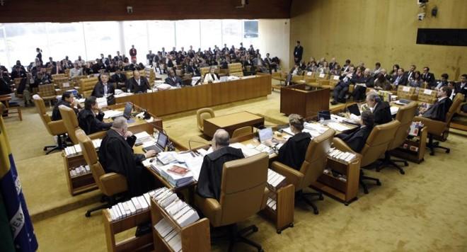 Plenário do Supremo: em decisão tumultuada, ministros repetiram  os votos do julgamento de Joaquim Roriz | Gil Ferreira / STF