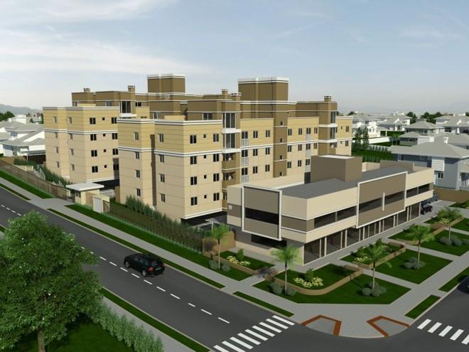 Perspectiva do projeto do condomínio Calábria, no Boqueirão: 64 apartamentos de dois e três quartos | Divulgação