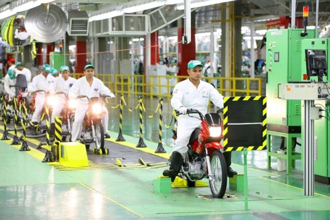 Da nova linha de produção saem exclusivamente os modelos Pop 100,  Lead 110 e Biz 125 que são vendidos em toda a América do Sul. A fábrica é responsável, também, pela produção de peças | Fotos: Divulgação/Honda