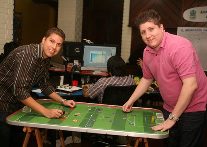 Biruta tem espaços para jogo de botão | Divulgação/Biruta Mídias Mirabolantes