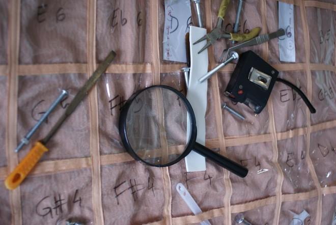 Instrumentos de trabalho usados para