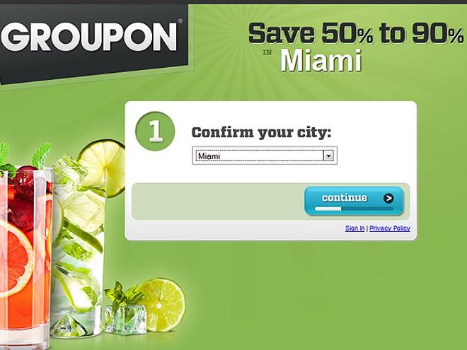 Site de compras coletivas GroupOn | Reprodução