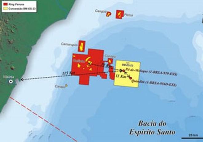Mapa mostra local das descobertas | Divulgação