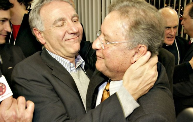 Campagnolo (à esquerda) teve o apoio do atual presidente, Rodrigo Rocha Loures | Marco André Lima/ Gazeta do Povo