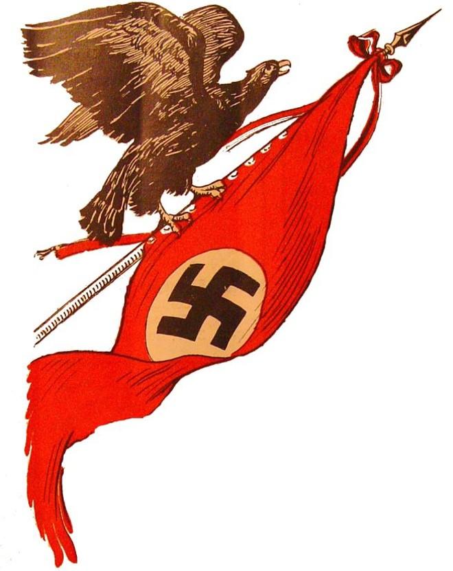 Fotos: Uma é reprodução da capa de revista Der Nationalsozialist, periódico do Partido Nazista | Arquivo do Estado de São Paulo.