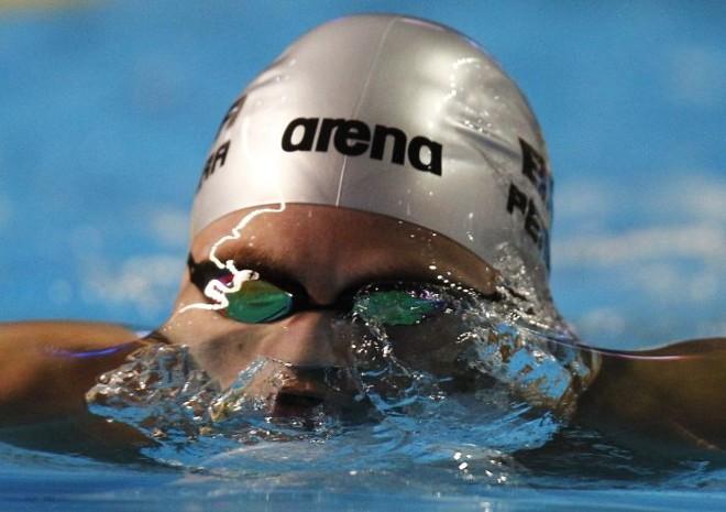 O brasileiro Thiago Pereira ficou na quarta colocação geral nas eliminatórias dos 200 m peito | Jorge Silva/ Reuters