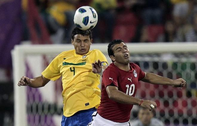 Thiago Silva demonstrou alívio pela vitória no encerramento da temporada da seleção | Fadi Al-Assaad / Reuters