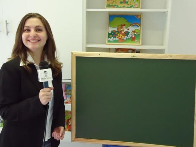 Luana trabalha como produtora e apresentadora de um programa semanal de TV, direcionado a pais e educadores de crianças de 0 a 6 anos   Arquivo pessoal