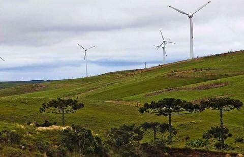 Na região mais alta de Palmas estão instaladas usinas eólicas | Jonathan Campos/ Gazeta do Povo
