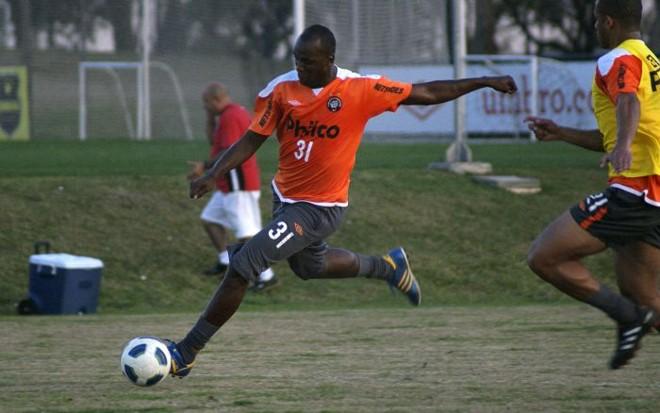 O atacante Itamar chegou a treinar no CT do Caju em 2011, mas a negociação com o Atlético não se concretizou.   Marco André Lima/Gazeta do Povo