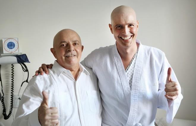 A visita do ex-presidente ao ator, feita nesta quarta-feira, durou cerca de meia hora | Ricardo Stuckert/Instituto Lula