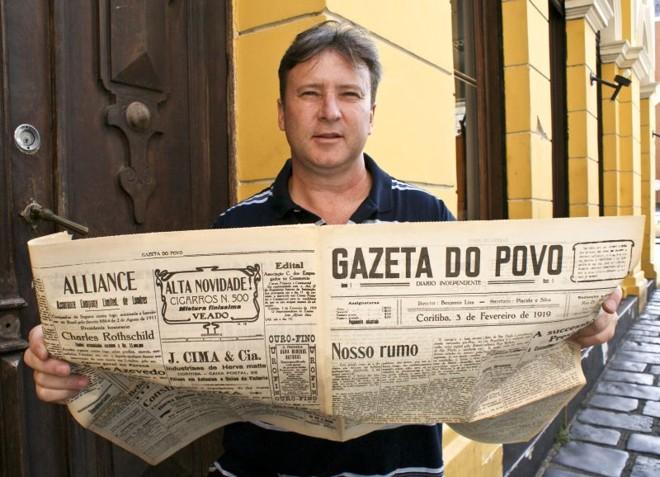 Marcus Titon, bisneto do fundador da livraria e papelaria João Haupt: 105 anos de mercado | Marco André Lima/Gazeta do Povo