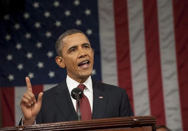 Obama mencionou impostos 34 vezes e empregos 32 vezes durante seu discurso de uma hora | EFE/SAÚL LOEB / POOL