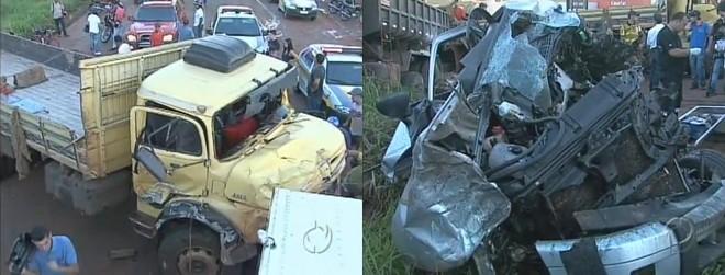 Por conta do acidente, a Avenida Prefeito Sincler Sambatti foi temporariamente interditada | Reprodução RPC TV Maringá