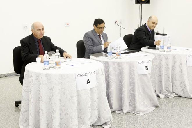 Giacóia, Schirmer e Faraj: candidatos declararam ser contrários à extensão de auxílios questionáveis, que são pagos a juízes , para o MP | Antônio More/ Gazeta do Povo