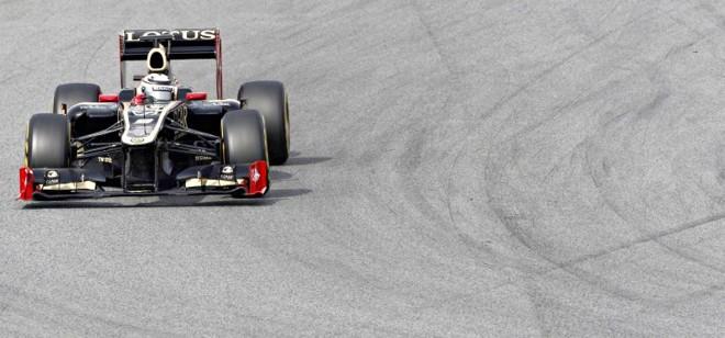 O tempo de Kimi Raikkonen  na última sessão de testes em Barcelona, foi o melhor entre todos os quatro dias. Ontem, o finlandês virou em 1min22s030 e colocou a Lotus na liderança pela 3ª  vez em quatro sessões | Albert Gea/ Reuters