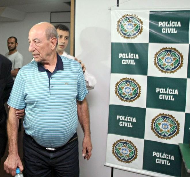 Anísio da Beija Flor é um dos oito acusados presos ontem, no Rio | Thiago Lontra/Agência O Globo
