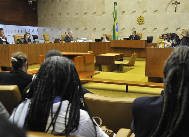 Sessão desta quinta-feira (26) do STF, que julga a constitucionalidade das cotas raciais | José Cruz/ Agência Brasil