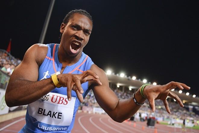 Blake conquistou a melhor marca da carreira e terceira melhor da história nos 100 metros rados em Lausanne | Fabrice Coffrini / AFP